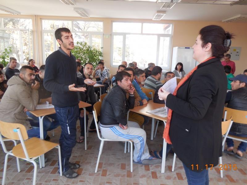 семинар за пазара на труда в бежански лагер